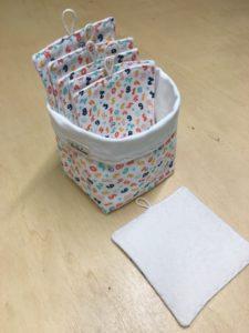 lingettes lavables bébé coton